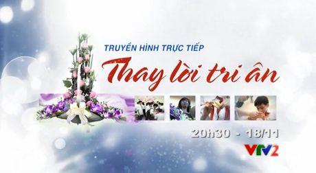 """THTT Giao luu nghe thuat """"Thay loi tri an"""" mung 20/11 (20h30, VTV2) - Anh 1"""