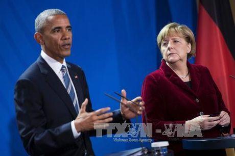 Ong Obama soi noi thao luan voi cac lanh dao chau Au - Anh 1