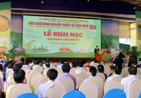 Khai mac Hoi cho Nong nghiep quoc te Viet Nam 2016 - Anh 1