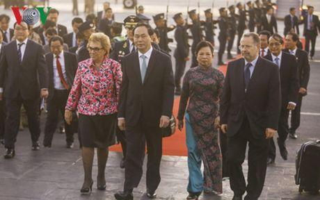 Chu tich nuoc Tran Dai Quang den Peru tham du APEC lan thu 24 - Anh 1