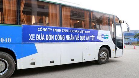 Tang 7.000 ve xe cho cong nhan ve que an tet - Anh 1