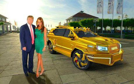 Sieu xe boc vang danh rieng cho 'Tong thong Trump' - Anh 1