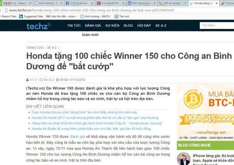 Khong co chuyen Honda tang Binh Duong 100 xe bat cuop! - Anh 1