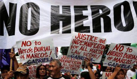 Philippines: Bieu tinh phan doi vinh danh nha doc tai Marcos - Anh 3