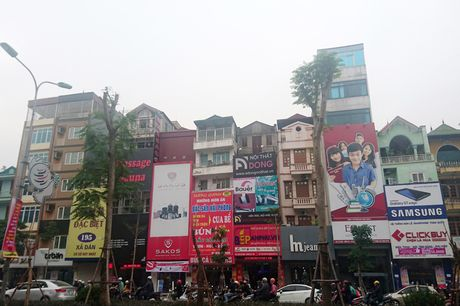 Bien quang cao 'khung' tran lan cac tuyen pho Ha Noi - Anh 1
