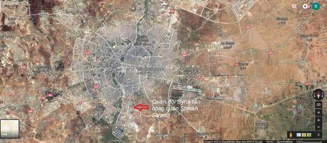 Quan doi Syria tan cong quan then chot tren huong Tay Nam thanh pho Aleppo - Anh 2