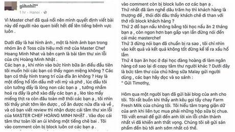 Ban do xao do te, Minh Nhat MasterChef 'xao' tam thu gui cho khach hang bi dan mang boc me - Anh 4