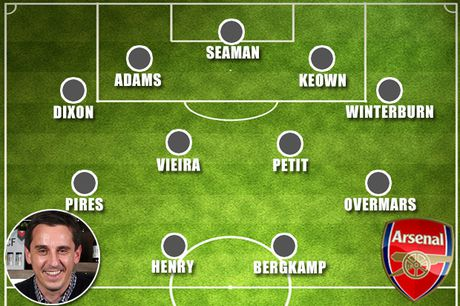 Gary Neville va doi hinh xuat sac nhat cua... Arsenal - Anh 3