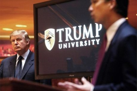 Ong Trump bat ngo dan xep cac vu kien Dai hoc Trump - Anh 1