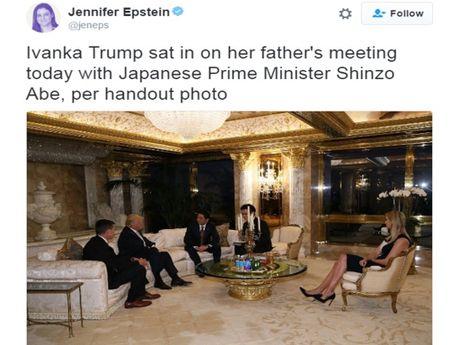 Ba Ivanka bi chi trich vi du cuoc hoi dam giua ong Trump va ong Abe - Anh 1