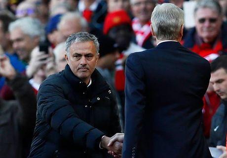 Mourinho va Wenger bat tay nhung khong them nhin nhau - Anh 1