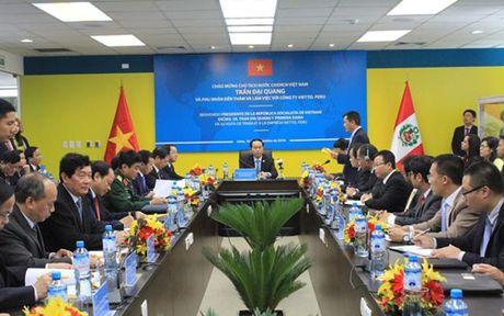 Chu tich nuoc Tran Dai Quang gap go doanh nghiep Peru - Anh 2