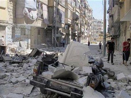 Phien quan Syria na rocket trung truong hoc, 7 tre em thiet mang - Anh 1