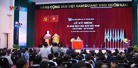 Thu tuong du le ky niem 34 nam ngay Nha giao Viet Nam tai DH Quoc gia TP.HCM - Anh 1