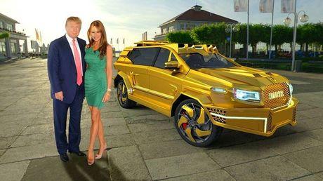 Choang ngop voi SUV boc thep ma vang cho ong Donald Trump - Anh 2