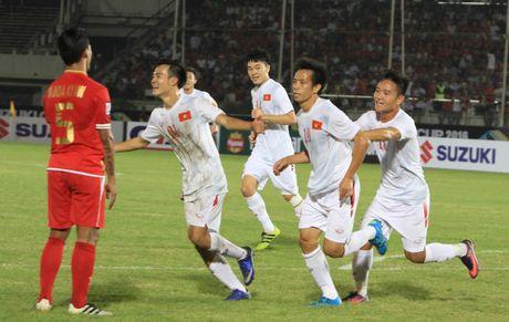 Myanmar vs Viet Nam (1-2, hiep 2): Cong Vinh lap cong - Anh 3