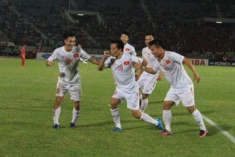 Myanmar vs Viet Nam (1-2, hiep 2): Cong Vinh lap cong - Anh 4