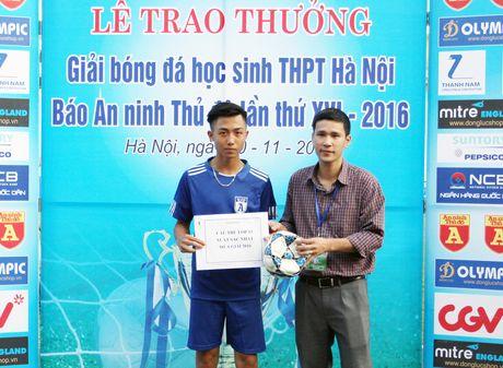 Khoanh khac vinh danh tai giai bong da hoc sinh THPT Ha Noi 2016 - Anh 13