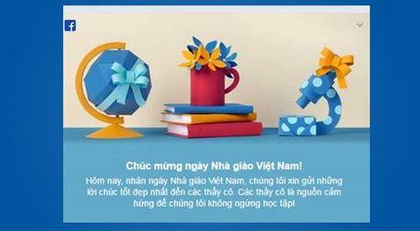 Facebook chuc mung ngay Nha giao Viet Nam 20.11 - Anh 1