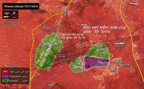 Quan doi Syria san phang can cu, don phien quan o Tay Ghouta vao cua tu - Anh 1