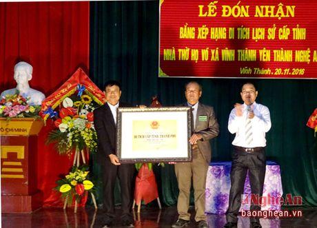 Nha tho ho Vo (Yen Thanh) don nhan bang di tich lich su cap tinh - Anh 2