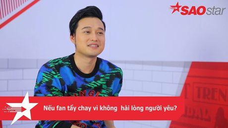 Clip: Quang Vinh se phan ung ra sao neu bi fan tay chay vi khong hai long nguoi yeu? - Anh 4