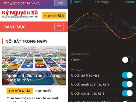Chan quang cao tren iPhone voi Firefox Focus - Anh 1