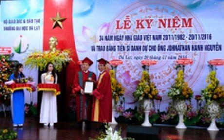 Doanh nhan Viet kieu dau tien nhan bang Tien si danh du Dai hoc Da Lat - Anh 1