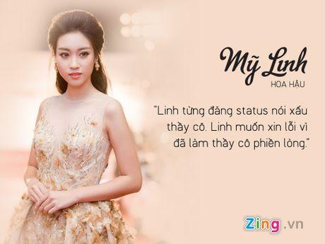 Hoa hau Do My Linh hoi han vi noi xau thay co tren Facebook - Anh 2