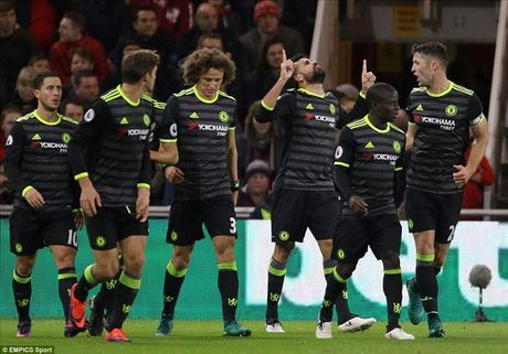 Danh bai Middlesbrough nho Costa, Chelsea lan dau len dinh cung Conte - Anh 1