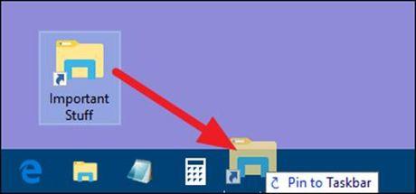 Ghim thu muc vao thanh Taskbar tren Windows 10 - Anh 3