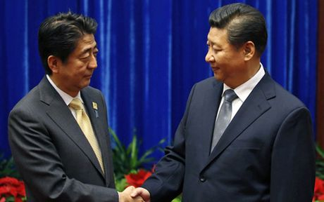 Hoi dam cap cao Nhat Ban - Trung Quoc ben le APEC - Anh 1