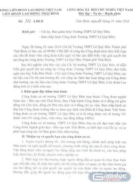 Bo Giao duc ban hanh 3 van ban chi dao, Thai Binh van chua xu truong Le Quy Don - Anh 2