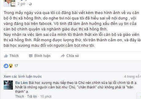 Vu noi xau giao vien tren facebook: Chuyen ho so cho So TT&TT Dak Nong xu ly - Anh 1