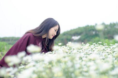Thieu nu Ha Thanh no nuc chup anh vuon hoa cuc hoa mi - Anh 10