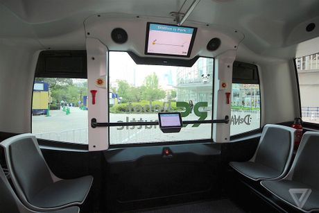Thu nghiem thanh cong xe bus tu lai o Nhat Ban - Anh 1