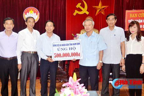 Tinh Nam Dinh ung ho dong bao vung lu Ha Tinh 500 trieu dong - Anh 1