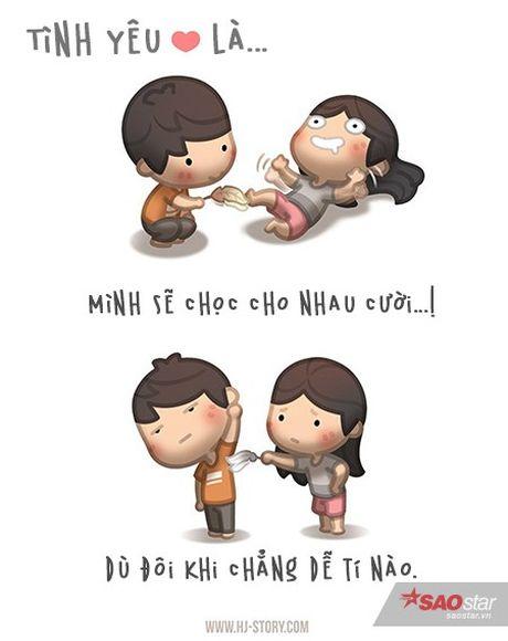 Tinh yeu that su ton tai trong moi hanh dong be be the nay thoi - Anh 3