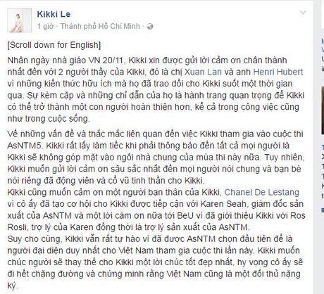 Kikki Le xac nhan khong tham gia Asia's Next Top Model 2017 - Anh 2