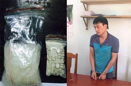 Thanh Hoa: Bat doi tuong van chuyen ma tuy tu Ha Noi - Anh 1