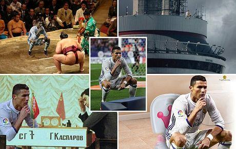 Anh che Ronaldo mung ban thang theo trao luu dung hinh - Anh 1