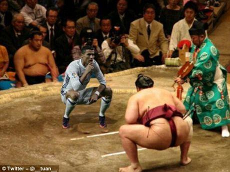 Phi cuoi voi anh che man an mung cua Cristiano Ronaldo - Anh 3