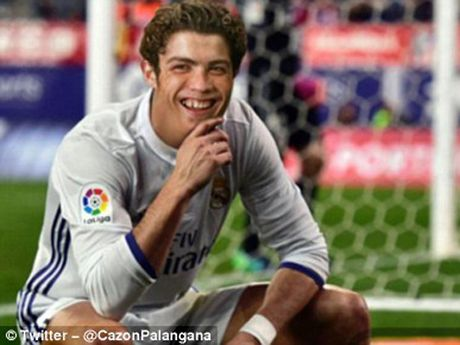 Phi cuoi voi anh che man an mung cua Cristiano Ronaldo - Anh 8