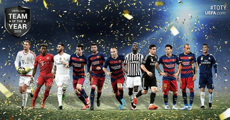 UEFA cong bo danh sach rut gon cho danh hieu 'Doi hinh xuat sac nhat nam 2016' - Anh 1