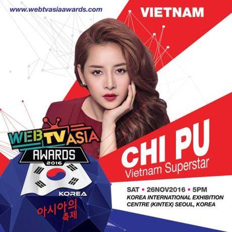 Chi Pu lai duoc Han Quoc moi du giai WebTV Asia Awards 2016 - Anh 1