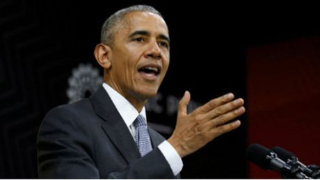 Tong thong Obama cong bo ke hoach dua vo di choi sau nhiem ky - Anh 1