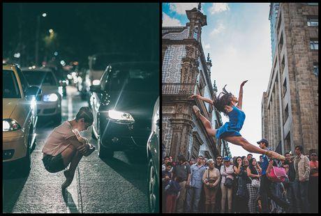 Ballet tren duong pho Mexico - thong diep gui Trump - Anh 1