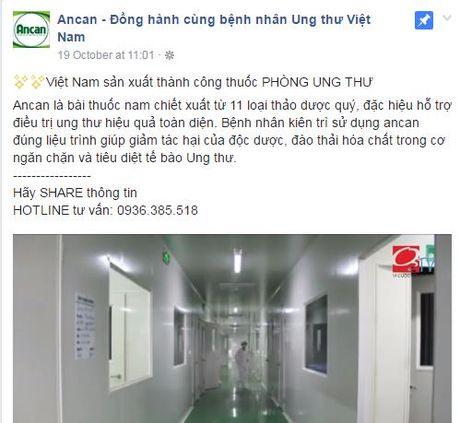 Quang cao lao, thuc pham chuc nang Ancan bi phat 65 trieu dong - Anh 2