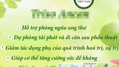Quang cao thuc pham chuc nang la thuoc, phat 65 trieu dong - Anh 1