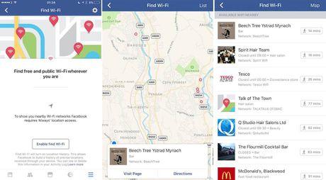 Facebook goi y cac diem ket noi Wi-Fi mien phi - Anh 1